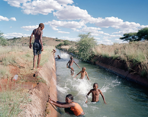Swimming in the 'Long Sea', Diamanthoogte, Koffiefontein, Free State, 2013