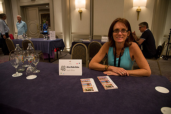 Rosanne Larsen at the Africa Media Online table at the CEPIC Congress 2016 held at the Sheraton Hotel in Zagreb, Croatia. Rosanne travels to Europe most years to meet agencies from around the globe that represent the collections we represent into their markets.