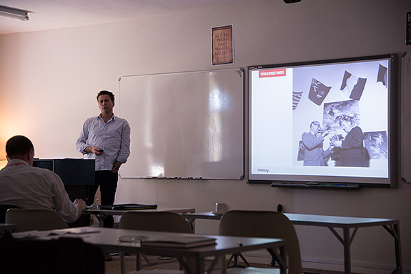 World Press Photo Managing Director, Michiel Munekke, presenting at DocuFest Africa 2013. World Press Photo wanted to support an initiative that showcased the best of African visual storytelling.