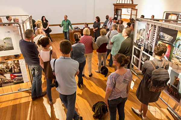 Me introducing the World Press Photo Exhibition 2017 to photographers and photography enthusiasts at an installation of the Exhibition at the Durban Art Gallery.