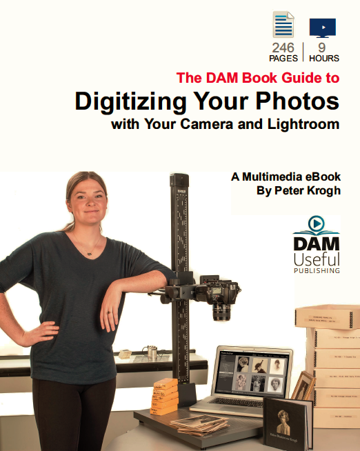 """The front cover of Peter Krogh's book """"Digitizing Your Photos with Your Camera and Lightroom."""
