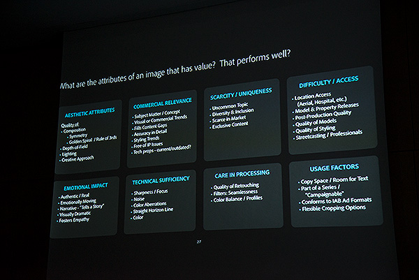 """Scott Braut, Head of Content at Adobe presented at CEPIC 2018 on """"Powering Content Velocity with Adobe"""" including what Adobe have discovered in terms of what makes an image valuable in terms of its purchasing power."""